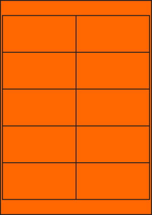 ENDI-HAFT Etiketten, 101,6x50,8 mm, leucht-orange