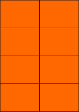 ENDI-HAFT Etiketten, 105x74 mm, leucht-orange