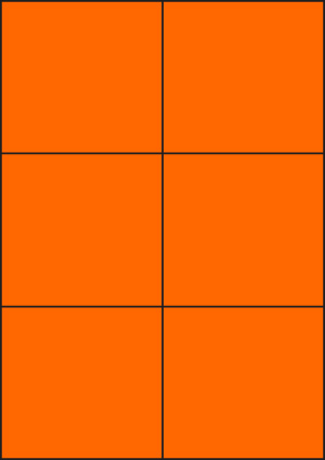 ENDI-HAFT Etiketten, 105x99 mm, leucht-orange