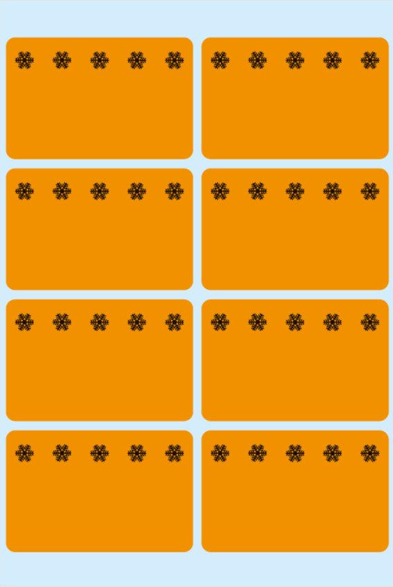 """HERMA 3774-48 Tiefkühletiketten 26 x 40 mm /""""Eiskristalle/"""" orange"""